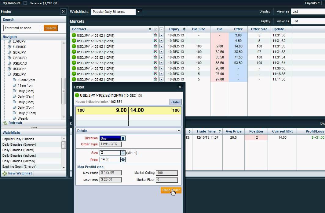 Nadex binary options bot