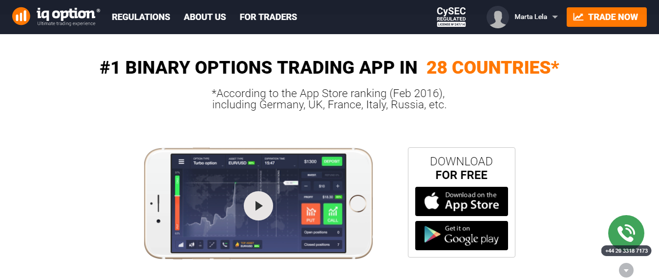 Free binary options app